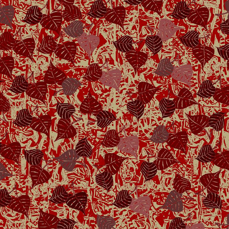 Motif scarlet 1 tissu velours